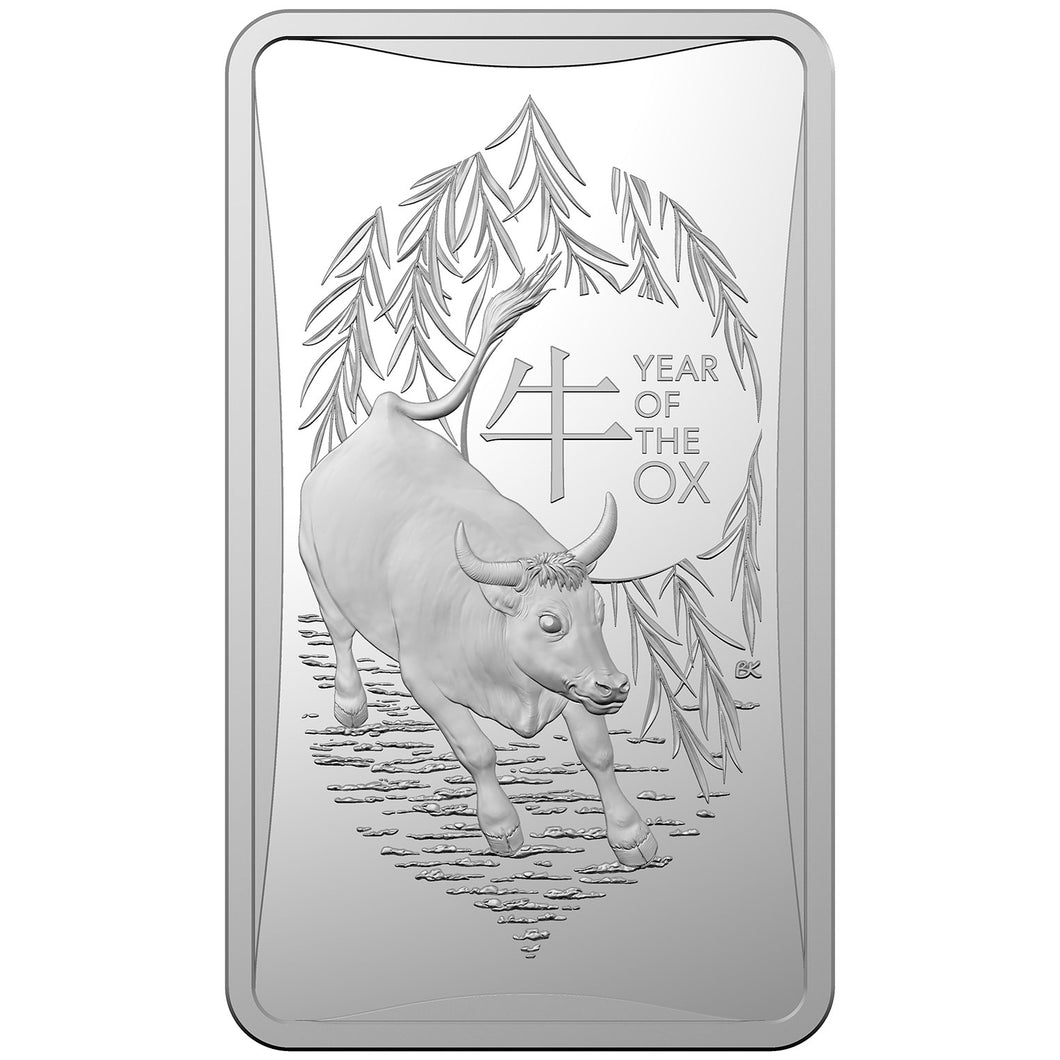 2021 $1 Lunar Year of the Ox Ingot 1/2oz Silver Coin