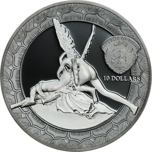 2016 Palau $10 Cupid And Psyche Eternal Sculptures 2oz Silver Coin
