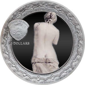 2017 Palau $10 Venus De Milo Eternal Sculptures 2oz Silver Coin