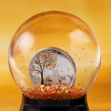 2018 Cook Isl. $1 Indian Summer Snow Globe Silver Coin
