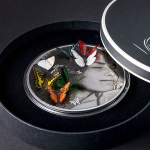 2018 Palau $20 Dream Edition Butterfly 3D Exotic Butterflies 5oz Silver Coin