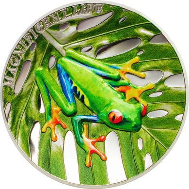 2018 Cook Isl. $5 Tree Frog 1oz Silver Coin