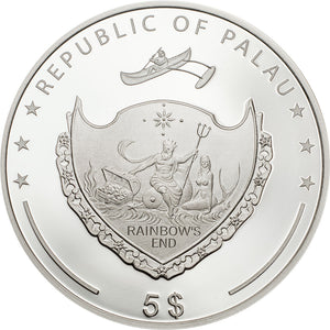 2019 Palau $5 Ounce of Luck 1oz Silver Coin