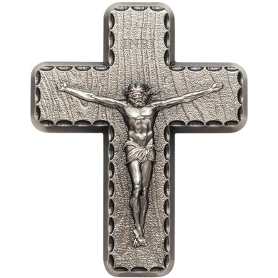 Lord's Prayer Crucifix 2oz Silver Medal