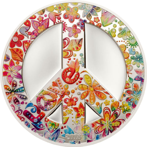 2018 Palau $5 Summer of Love 1oz Silver Coin