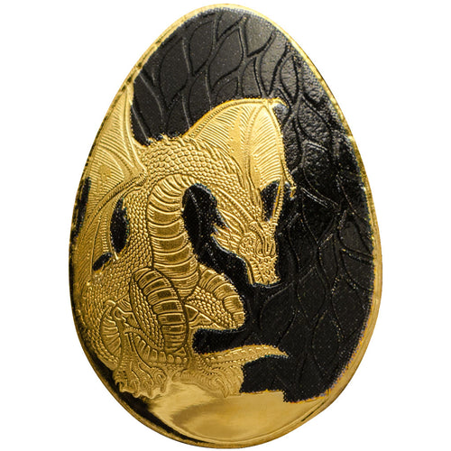 Palau $1 Dragon Egg 0.5g Gold BU