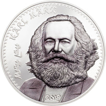 2019 Mongolia 1000Tg Karl Marx Silver Coin Proof