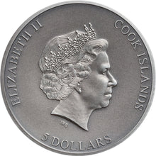2019 Cook Isl. $5 Trapped Silver Coin