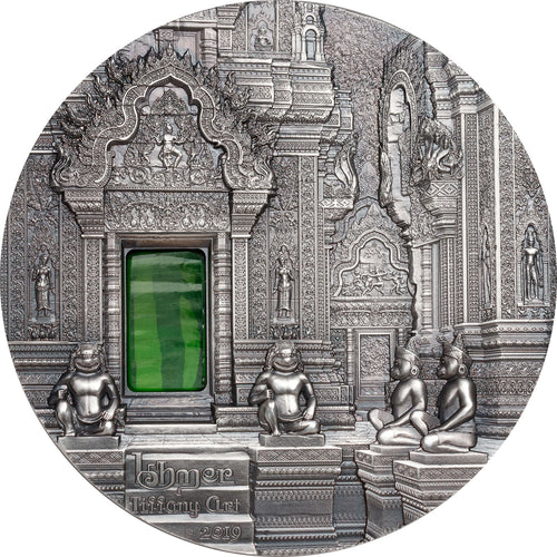 2019 Palau $10 Tiffany Art 2oz - Khmer Silver Coin