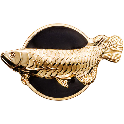 2019 Palau $10 Dragonfish - Arowana Silver Proof