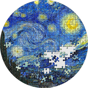 2019 Palau $20 Starry Night Van Gogh Micropuzzle 3oz Silver Coin