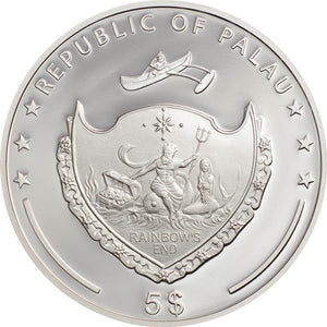 2020 Palau $5 Evil Eye 1oz Silver Coin