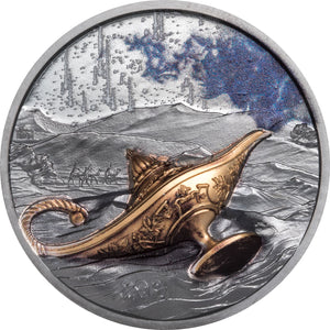 2021 Palau $5 1001 Nights - Magical Lamp 1oz Silver Coin