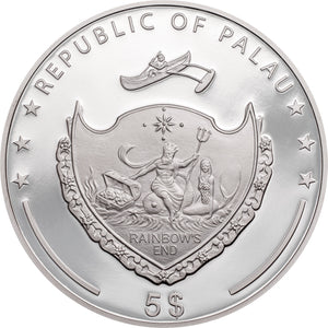 2021 Palau $5 Hand of Hamsa 1oz Silver Coin