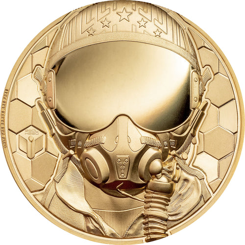 2020 Cook Isl. $250 Real Heroes - Fighter Pilot 1oz Gold Proof