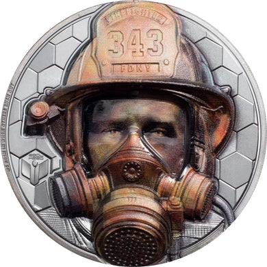 2021 Cook Isl. $20 Real Heroes - Firefighter 3oz Silver Coin
