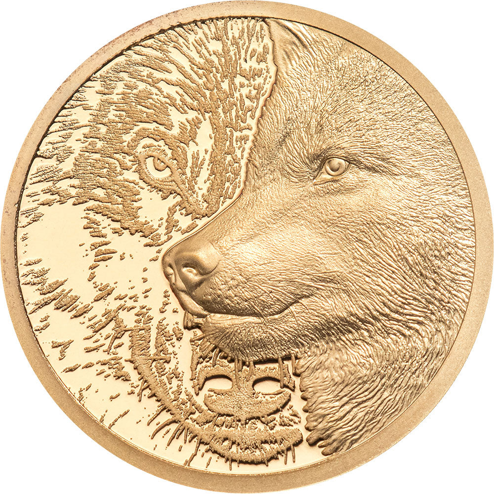 2021 Mongolia 1000Tg Mystic Wolf 1/10 oz Gold Proof