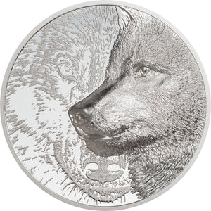 2021 Mongolia 2000Tg Mystic Wolf 3oz Silver Coin