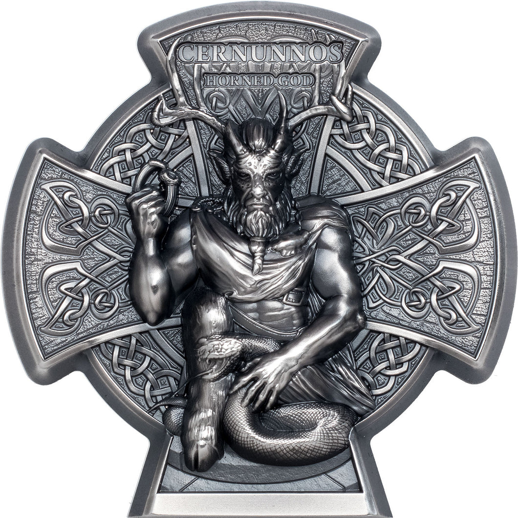2021 Isle of Man £5 Cernunnos - Horned God 3oz Silver Coin