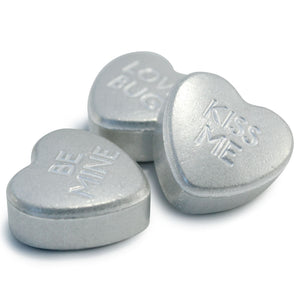 Sweethearts Silver Candy Box of 3 x 10g Hearts