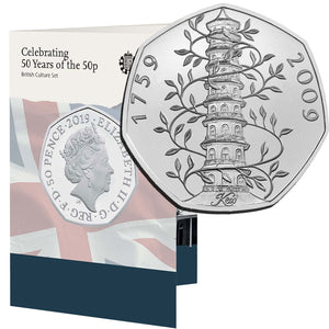 2019 UK 50p 50th Anniversary BU Set