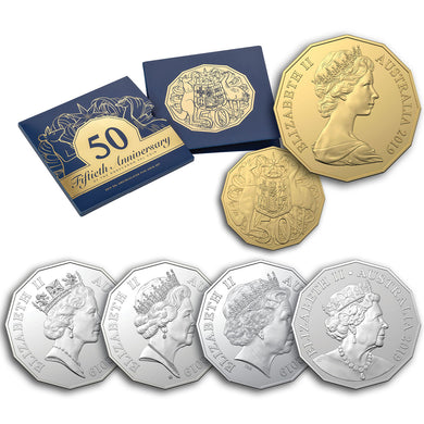 2019 50c 50th anniversary 5-coin Unc Set