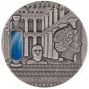 2018 Niue $2 Imperial Art - Greece 2oz Silver Coin