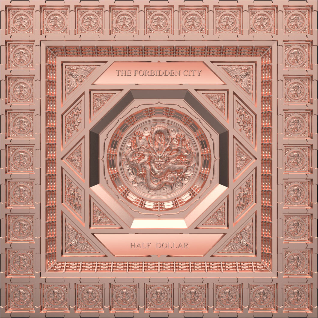 2020 Samoa 50c Forbidden City Caisson Ceiling 220g Copper Coin