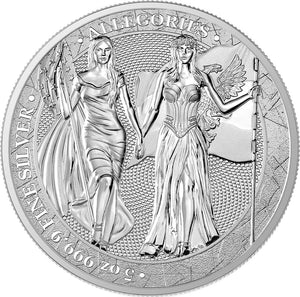 2019 25 Mark Germania & Columbia 5oz Silver BU