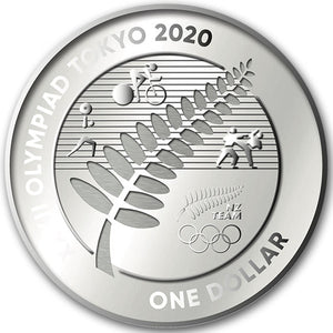 2020 NZ $1 100 Years Olympic Games 1oz Silver Coin Set