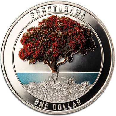 2020 NZ $1 Pohutukawa Silver Proof Coin