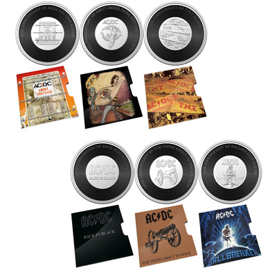 2020-21 20c AC-DC Albums 6-coin Collection