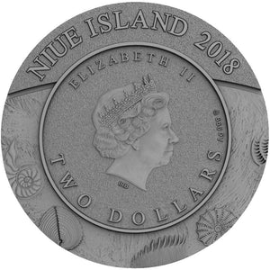 2018 Niue $2 Evolution - Ammonoidea 2oz Silver Coin