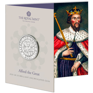 2021 UK £5 Alfred the Great BU