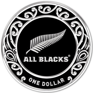2019 NZ $1 All Blacks 1oz Silver Specimen