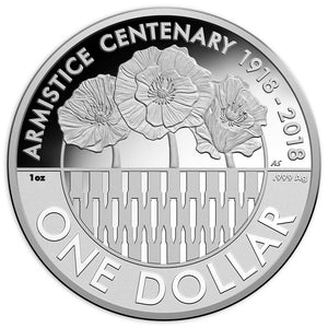 2018 $1 Armistice Centenary 1oz Silver Proof Coin