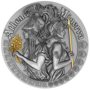 2019 Niue $2 Strong & Beautiful - Athena & Minerva 2oz Silver Coin