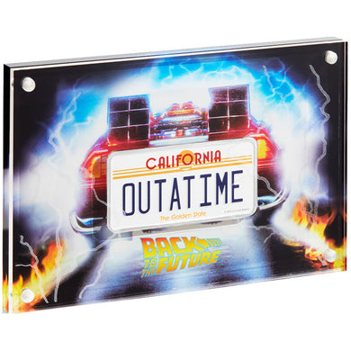 2020 Niue $2 Back to the Future License Plate 2oz License Plate Silver Coin