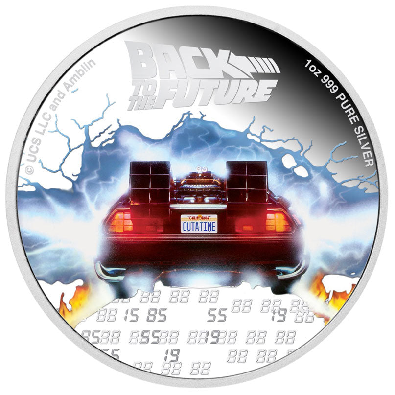 2020 Niue $2 Back to the Future 1oz Silver Proof Coin