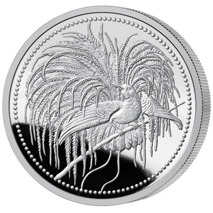 2020 PNG 10K Bird of Paradise 1oz Silver Proof PF70