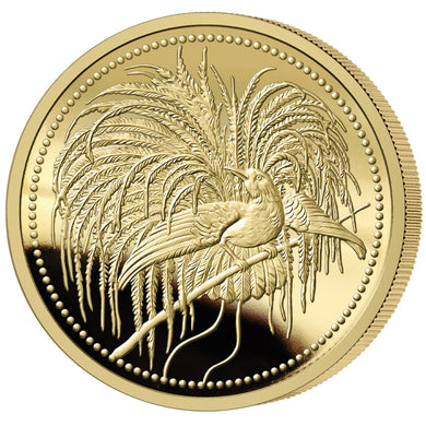 2020 PNG 100K Bird of Paradise 1/4oz Gold Proof PF70