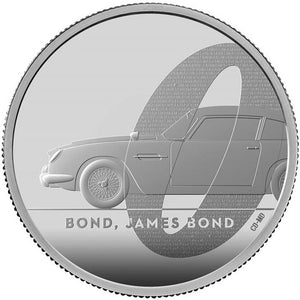 2020 UK £5 James Bond 2oz Silver Proof