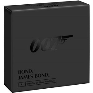 2020 UK £1 James Bond 1/2oz Silver Proof