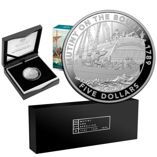2019 Mutiny & Rebellion - The Bounty w/3-coin case