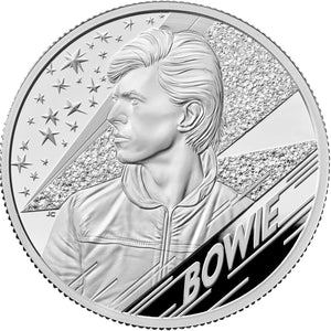 2020 UK £5 Music Legends - David Bowie 2oz Silver Proof