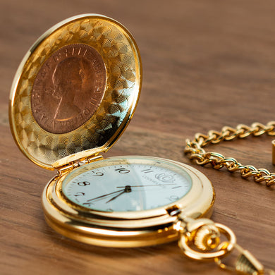 Kangaroo Penny Golden Pocketwatch