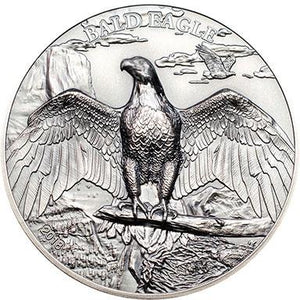 2018 Cook Isl $5 Bald Eagle 1oz Silver Coin