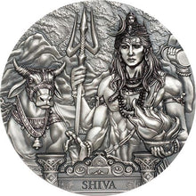 2020 Cook Isl $20 Shiva - Hinduism 3oz Silver Coin