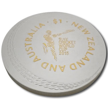 2015 NZ $1 ICC Cricket World Cup 1oz Silver Proof Coin