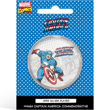 Marvel Captain America Silver Plated Collector Medal